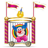 Clown. Template Circus theme (Happy Clown Royalty Free Stock Photography