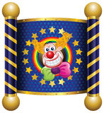 Clown. Template Circus theme (Happy Clown Royalty Free Stock Images