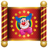 Clown. Template Circus theme (Happy Clown Stock Photography
