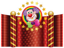Clown. Template Circus theme (Happy Clown Royalty Free Stock Photos