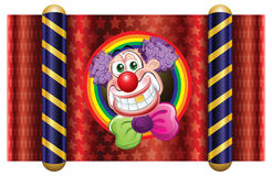 Clown. Template Circus theme (Happy Clown Royalty Free Stock Image