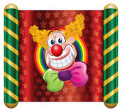 Clown. Template Circus theme (Happy Clown Royalty Free Stock Photo