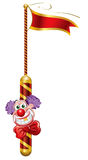 Clown. Template Circus theme (Happy Clown royalty free illustration