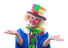 The clown. Life of clowns. All series by a key word mimes Royalty Free Stock Photography