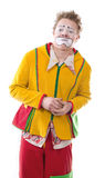 The clown. Life of clowns. All series by a key word mimes Stock Photography