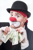 The clown. Life of clowns. All series by a key word mimes Royalty Free Stock Images