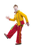 The clown. Life of clowns. All series by a key word mimes Royalty Free Stock Image