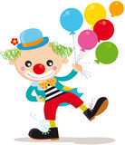 Clown. Illustration of funny clown with ballons