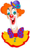 Clown. Illustration of a colorful smiling Clown stock illustration