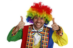 Clown. A clown smiling with thumbs up Stock Images