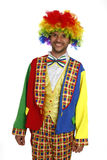 Clown. A silly clown smiling, isolated on white Royalty Free Stock Image