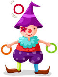 Clown. Illustration of isoalted funny clown juggling on white Stock Image