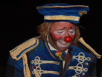 The clown. Spectacle of the circus Medrano Royalty Free Stock Image