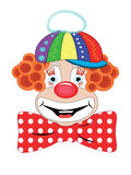 Clown. Head of the funny clown in cap Royalty Free Stock Photos