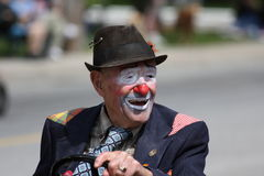 Clown. A clown in the Stoney Creek Flag Day Parade Stock Images