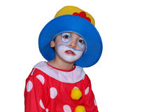 Clown. Boy is dressed for Carnival as a Clown Stock Photos