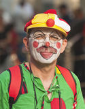 "Clown. Unidentified participant at ""Clown Revolution"" in Budapest, 16th June 2011 Stock Photo"