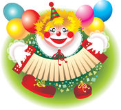 Clown. Birthday party with clown a lot more fun Royalty Free Stock Photography