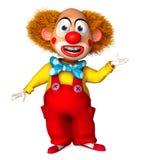 Clown. 3d cartoon cute holiday clown Royalty Free Stock Image