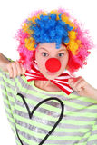 Clown. Cute teen girl dressed as a clown Royalty Free Stock Image