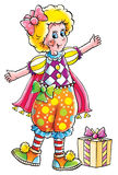 Clown. Isolated clip-art and children's illustration for yours design, postcard, album, cover, scrapbook, etc Stock Images