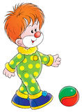 Clown. Isolated clip-art and children's illustration for yours design, postcard, album, cover, scrapbook, etc Royalty Free Stock Images