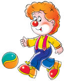 Clown. Isolated clip-art and children's illustration for yours design, postcard, album, cover, scrapbook, etc Stock Image
