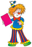 Clown. Isolated clip-art and children's illustration for yours design, postcard, album, cover, scrapbook, etc Royalty Free Stock Photos