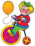 Clown. Isolated clip-art and children's illustration for yours design, postcard, album, cover, scrapbook, etc Stock Photo