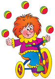 Clown. Isolated clip-art and children's illustration for yours design, postcard, album, cover, scrapbook, etc Royalty Free Stock Image