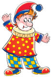 Clown. Isolated clip-art and children's illustration for yours design, postcard, album, cover, scrapbook, etc Royalty Free Stock Photo