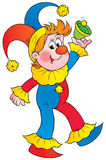 Clown. Isolated clip-art and children's illustration for yours design, postcard, album, cover, scrapbook, etc Royalty Free Stock Photography