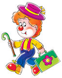 Clown. Isolated clip-art and illustration for your design, postcard, album, cover, scrapbook, etc Royalty Free Stock Photos