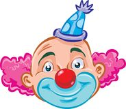 Clown. A smiling happy clown with a red nose Royalty Free Stock Photography