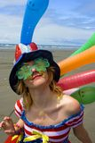 Clown. The girl in masquerade costume Stock Photo