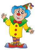 Clown. In colorful outfit - color illustration Royalty Free Stock Photo