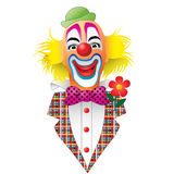 Clown. A smiling clown with red nose royalty free illustration