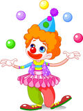 Clown a. Cute funny clown juggling. Vector illustration Stock Photography
