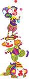 Clown. Illustration of a clown balancing balls on his hat Stock Image