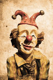 Clown. Old funny clown in retro design look Royalty Free Stock Images