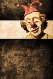 Clown. Old funny clown in retro design look Royalty Free Stock Image