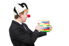 Clown with abacus Stock Photos