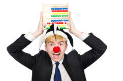 Clown with abacus Stock Images
