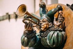 Clown Acrobat sculpture near Belarusian State Royalty Free Stock Photography