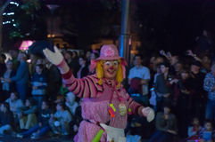 Clown - Adelaide Fringe 2017 Lizenzfreie Stockfotos