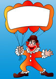 Clown with air ball and message Royalty Free Stock Photography