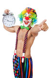 Clown with alarm clock Royalty Free Stock Images