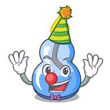 Clown alcohol burner mascot cartoon. Vector illustration vector illustration