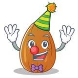 Clown almond nut character cartoon Stock Photo