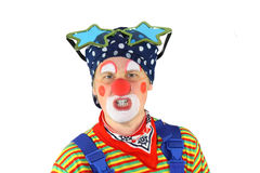 Clown is angry Royalty Free Stock Image